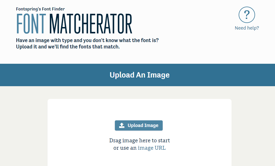 The Matcherator homepage.