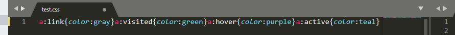 A minified CSS script.