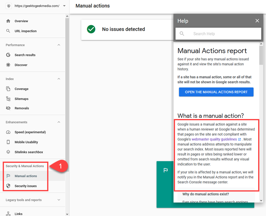 security and manual actions