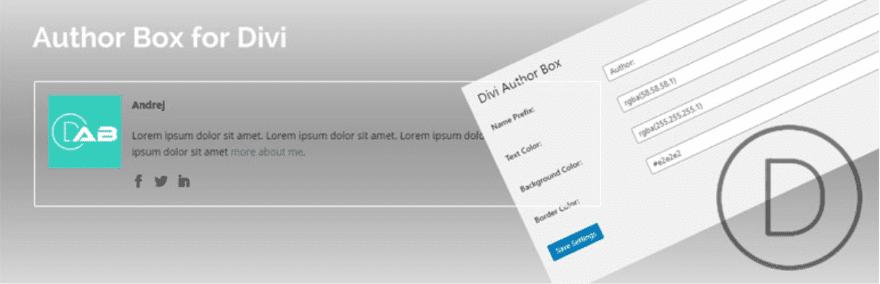 Author Box for Divi