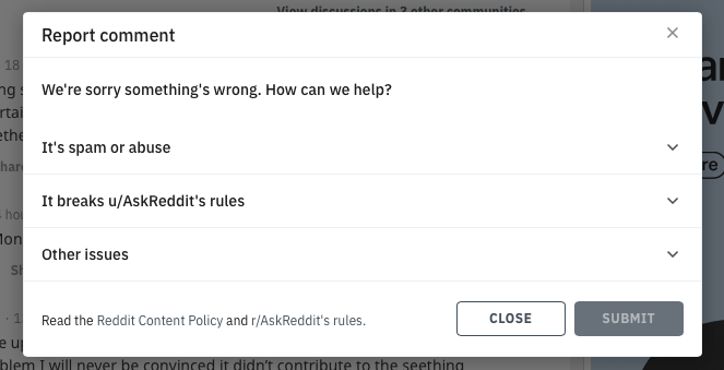 report a user