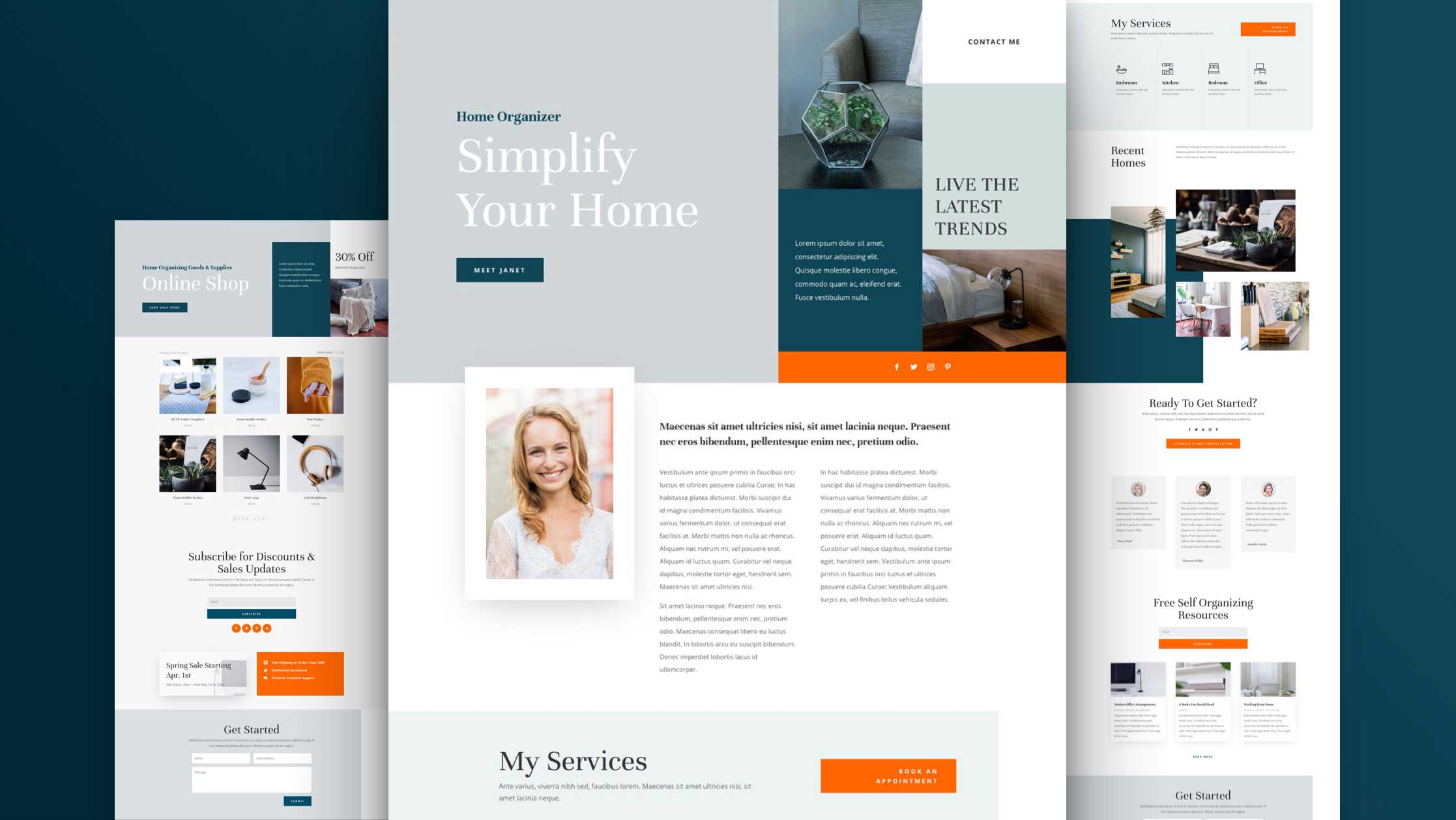 Get a FREE Home Organizer Layout Pack for Divi
