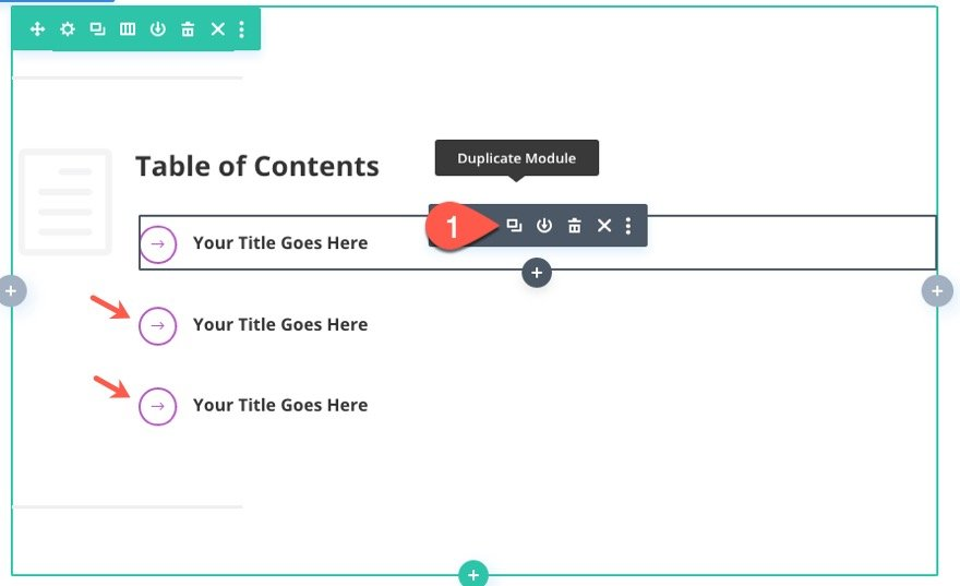 clickable table of contents