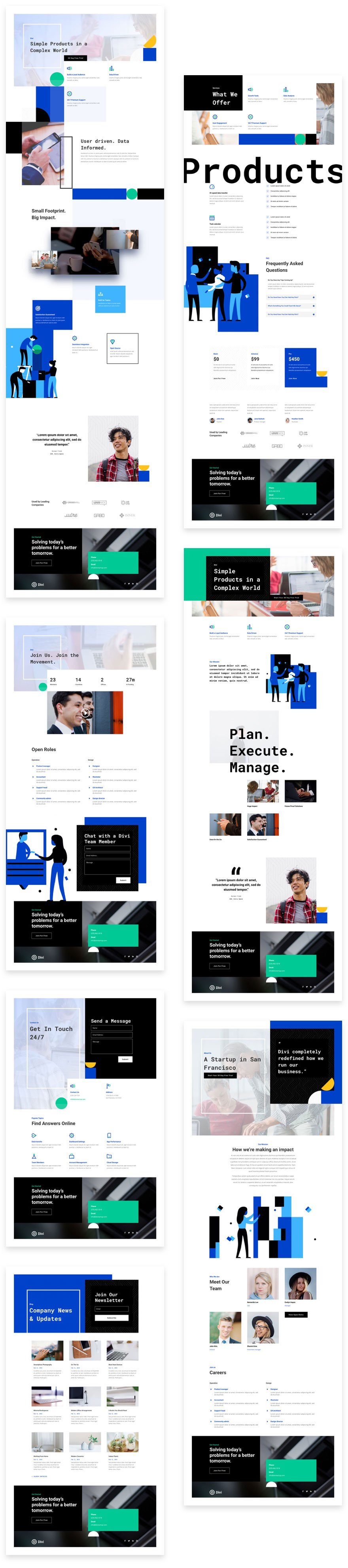 Divi Startup Layout Pack