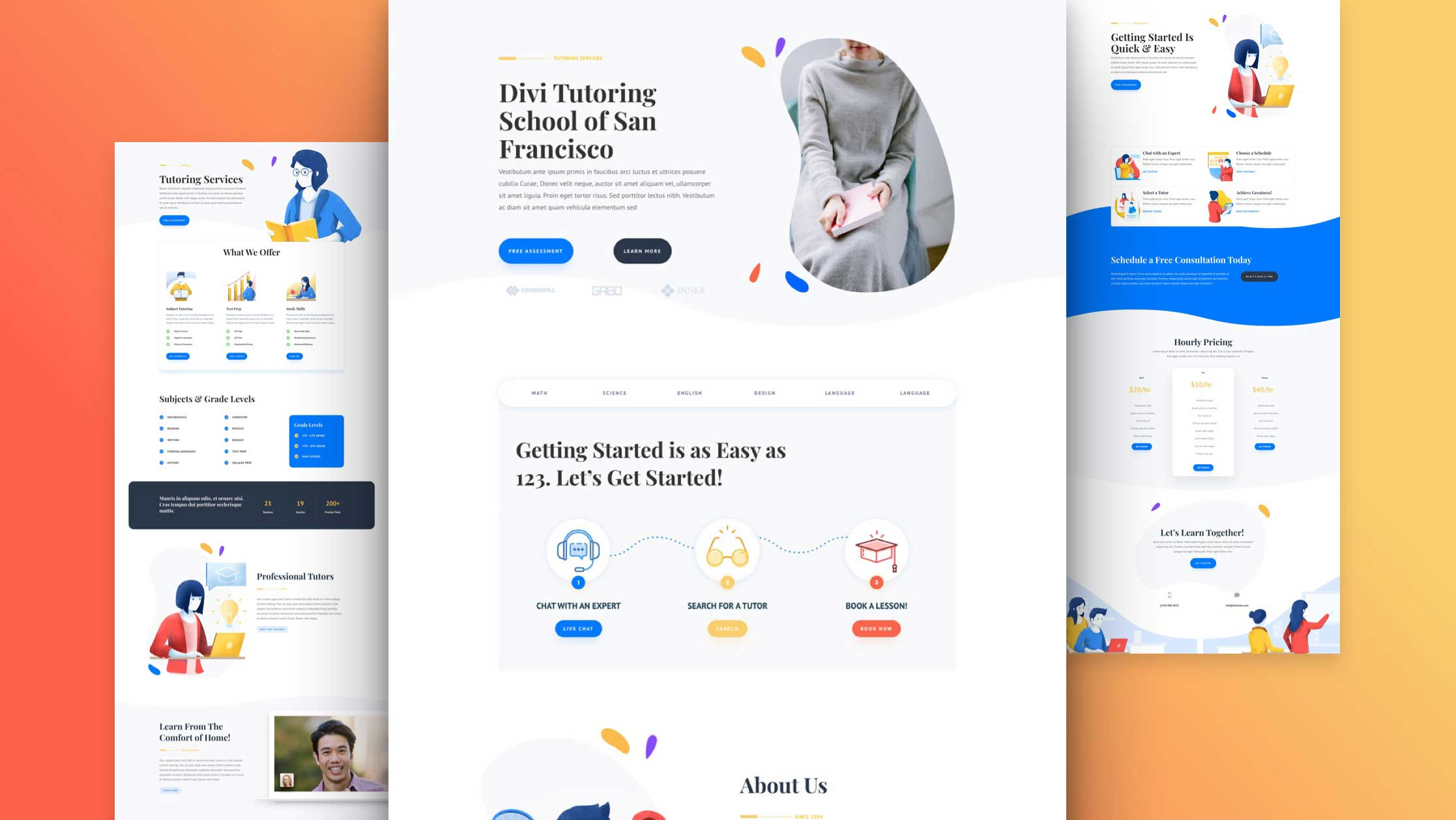 Get a FREE Tutor Layout Pack for Divi