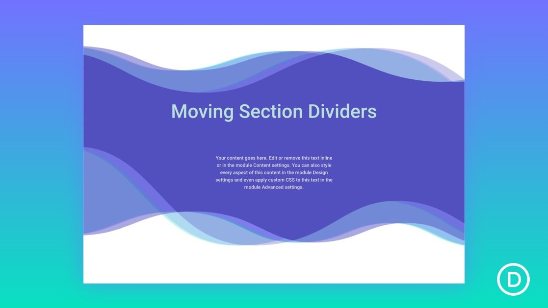 How to Create Section Divider Scroll Effects in Divi