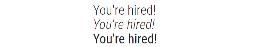 Roboto Condensed font example text.