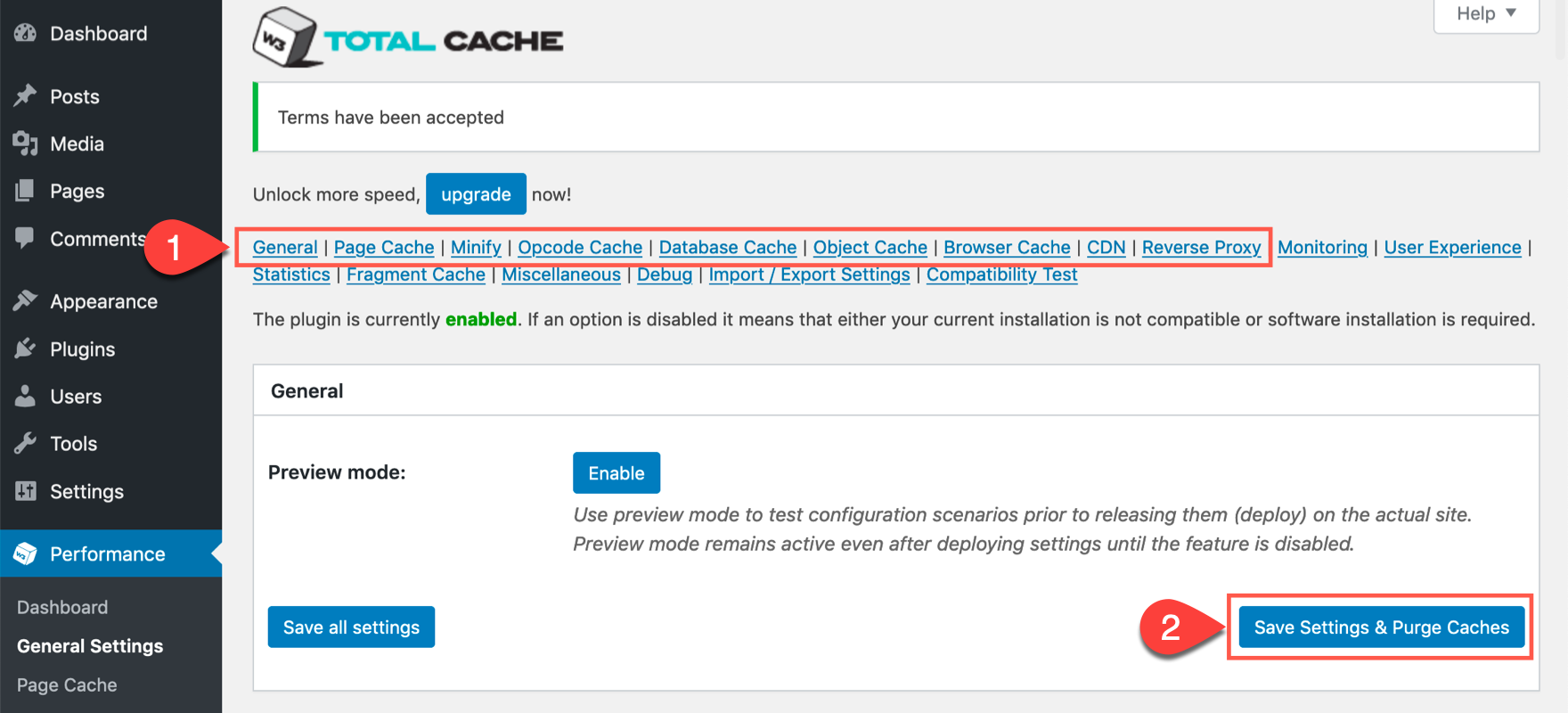 how to clear your WordPress cache