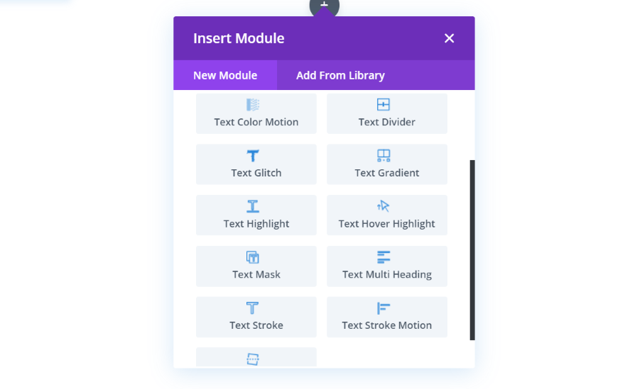 Divi Next Texts Modules