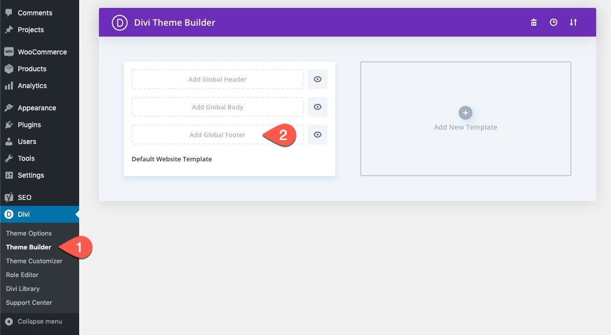 divi fixed footer bar