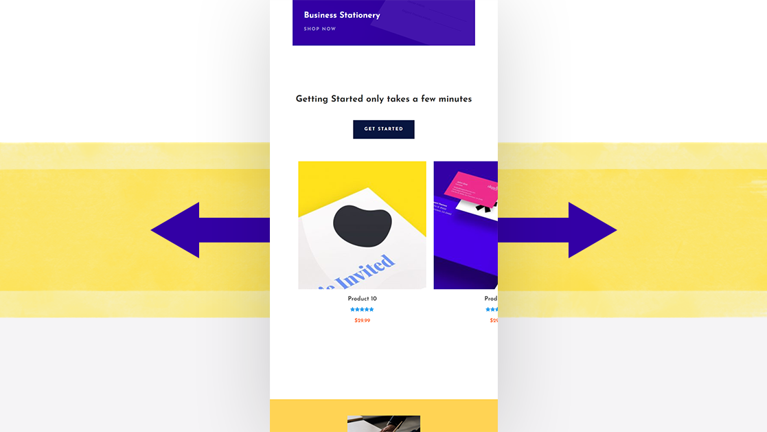 Turning Divi's Shop Module into Dynamic Product Swipe Cards on Mobile