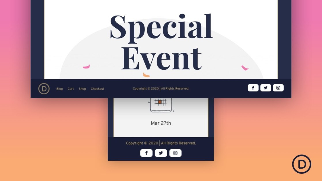 How to Create a Fixed Footer Bar for Your Divi Theme