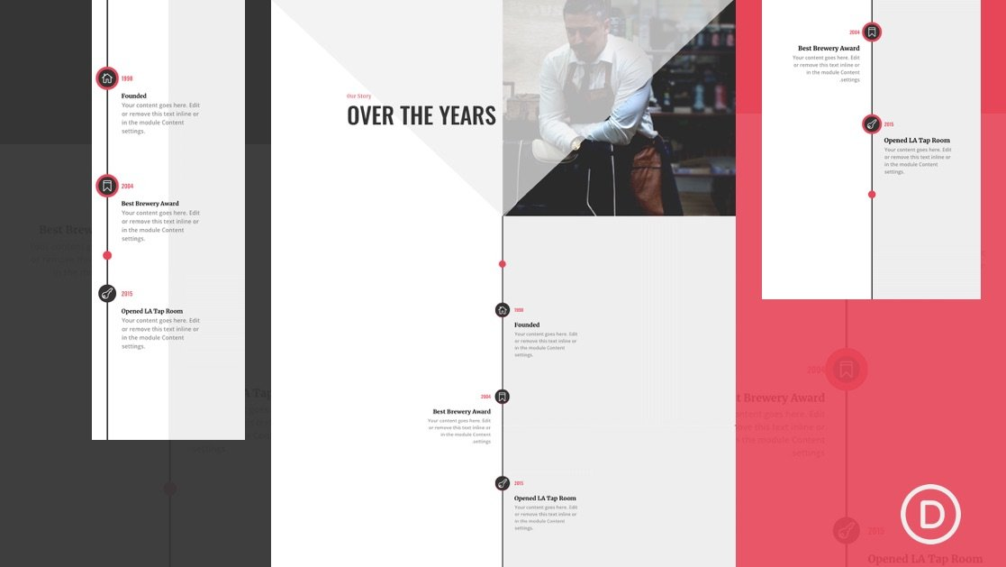 How to Design a Divi Timeline Layout with Scroll Effects