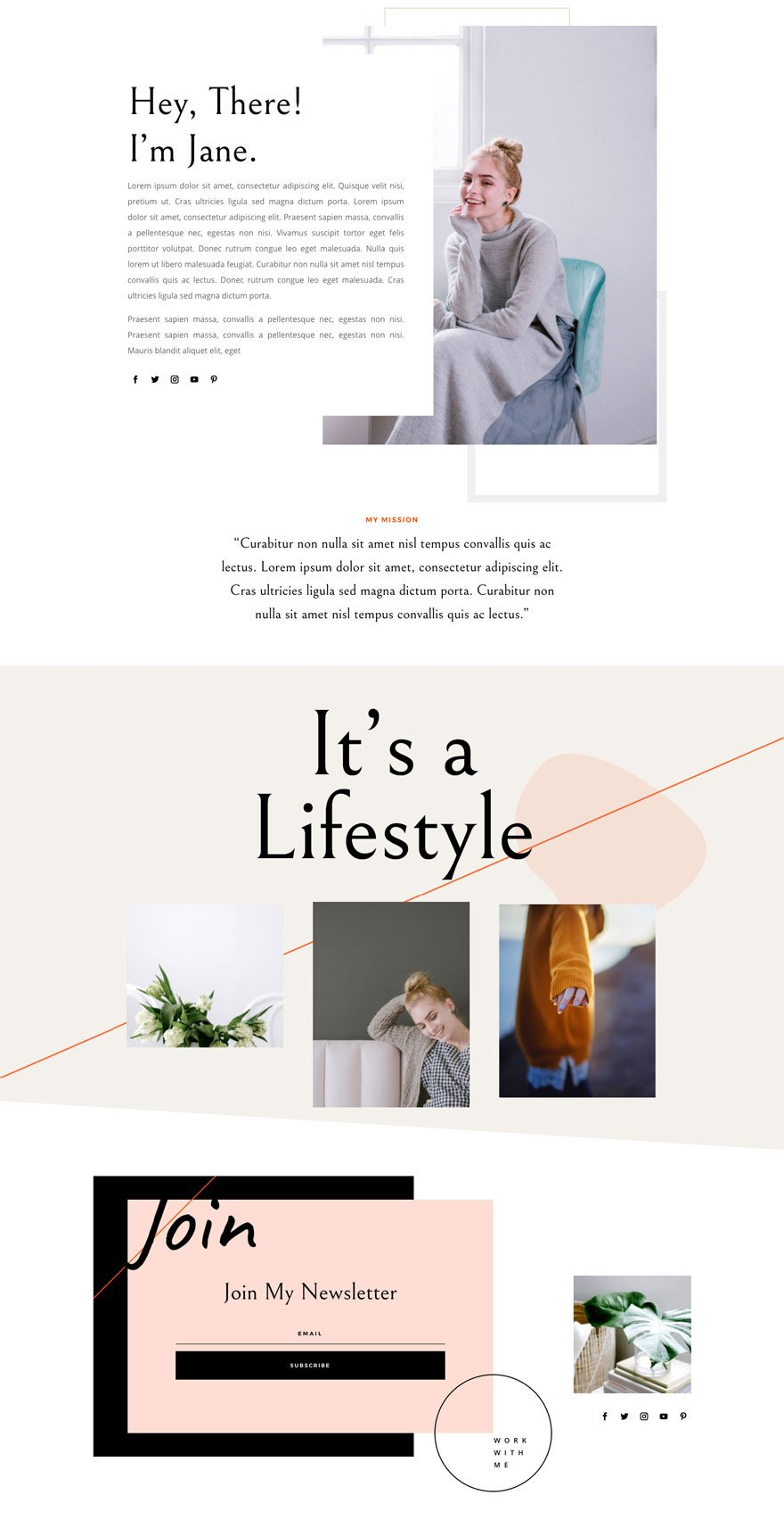 divi influencer layout pack