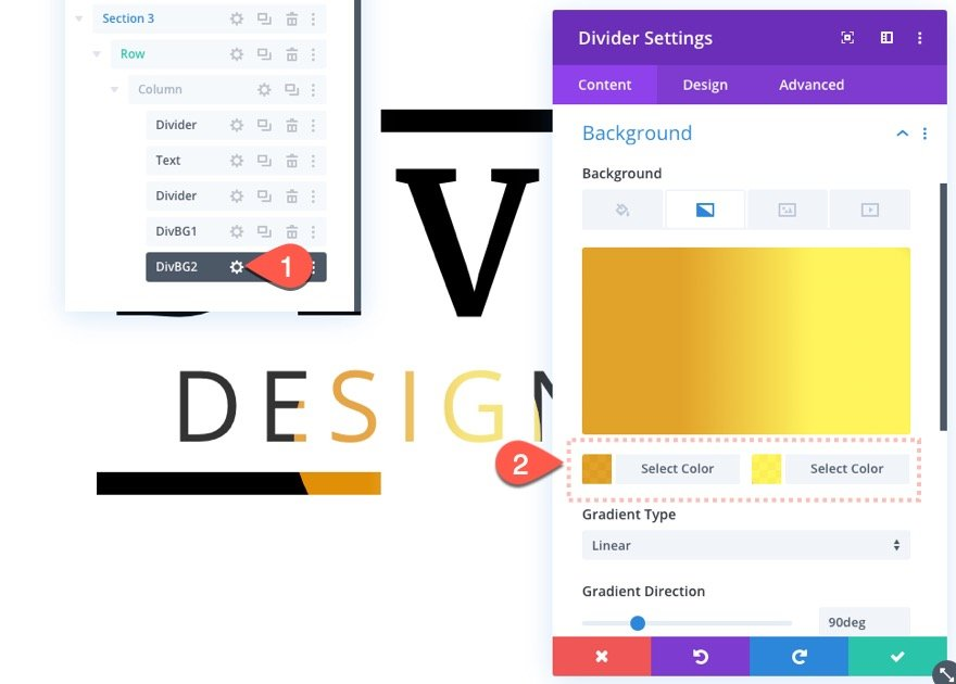 divi text background scroll effects