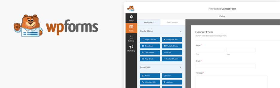 The WP Forms plugin.