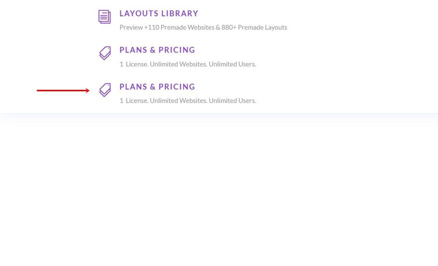 elegant themes dropdown menu