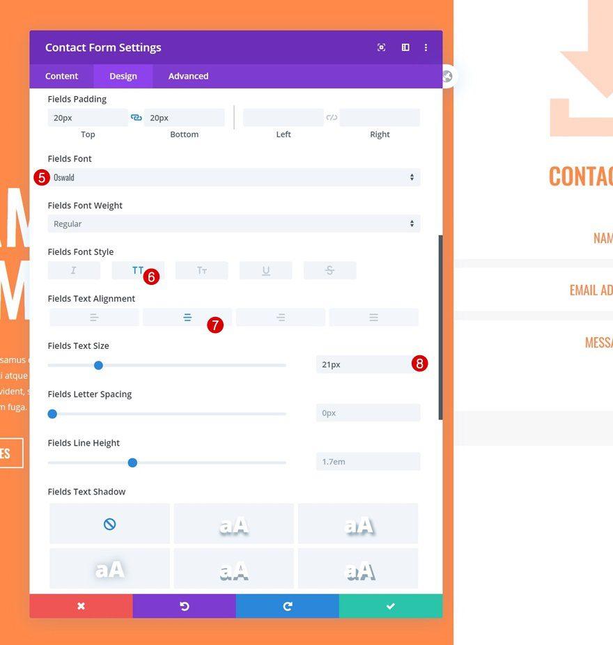 column contact form