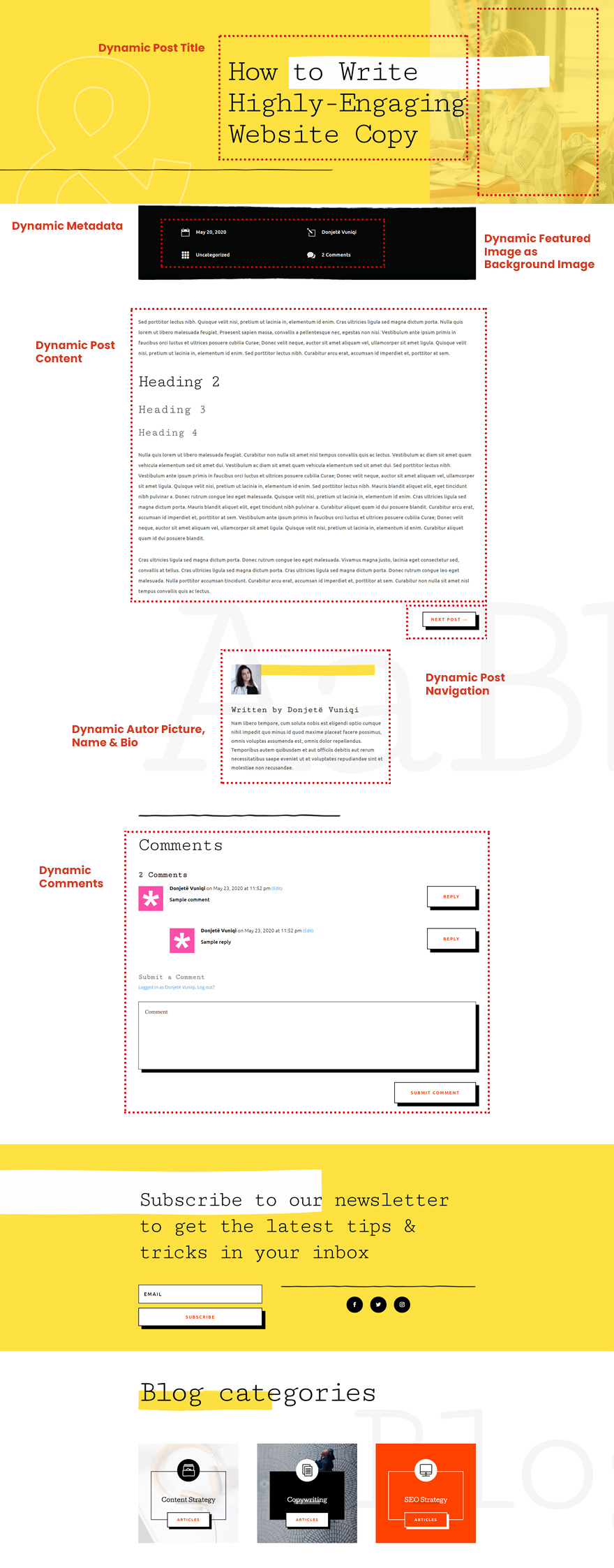 freelance writer blog post template
