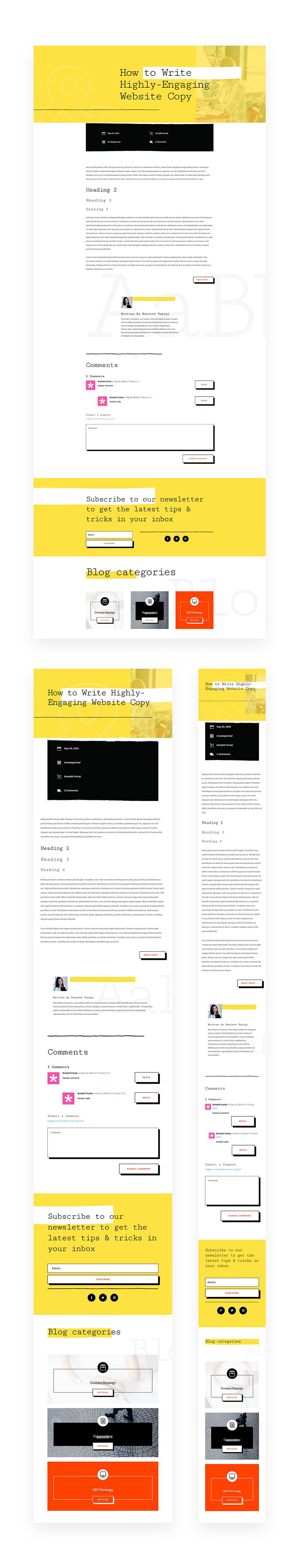 Download a FREE Blog Post Template for Divi's Freelance Writer Layout Pack  | Elegant Themes Blog