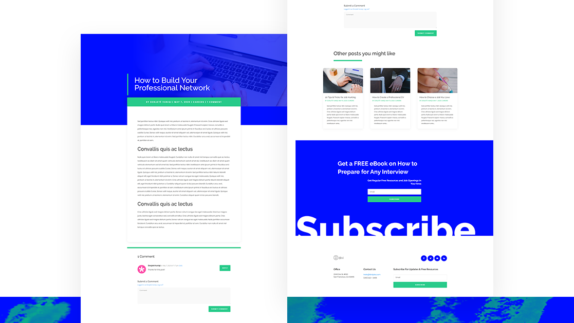 free divi blog post layout pack