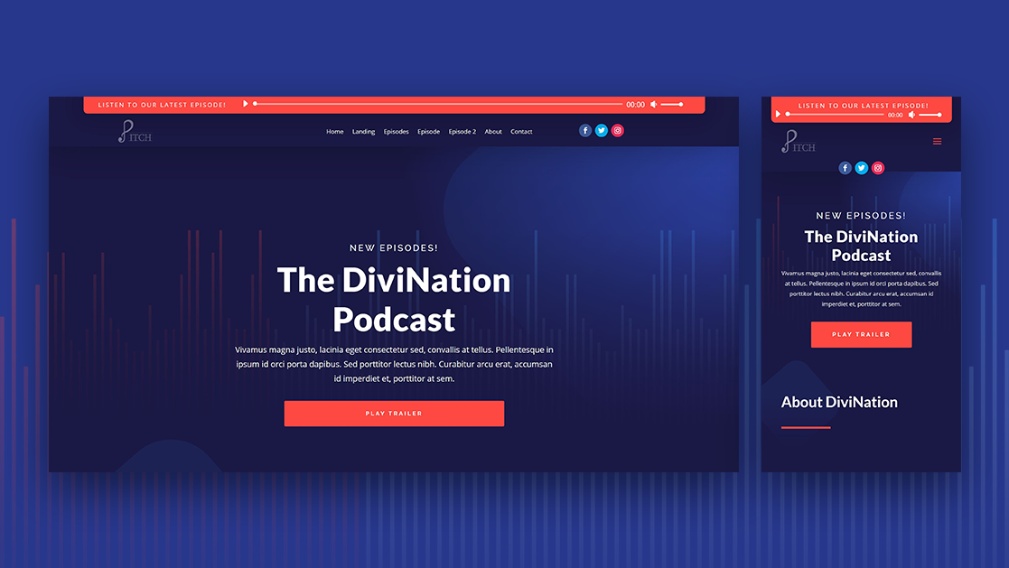 "How to Add a Fixed ""Latest Episode"" Audio Bar to Your Divi Header"