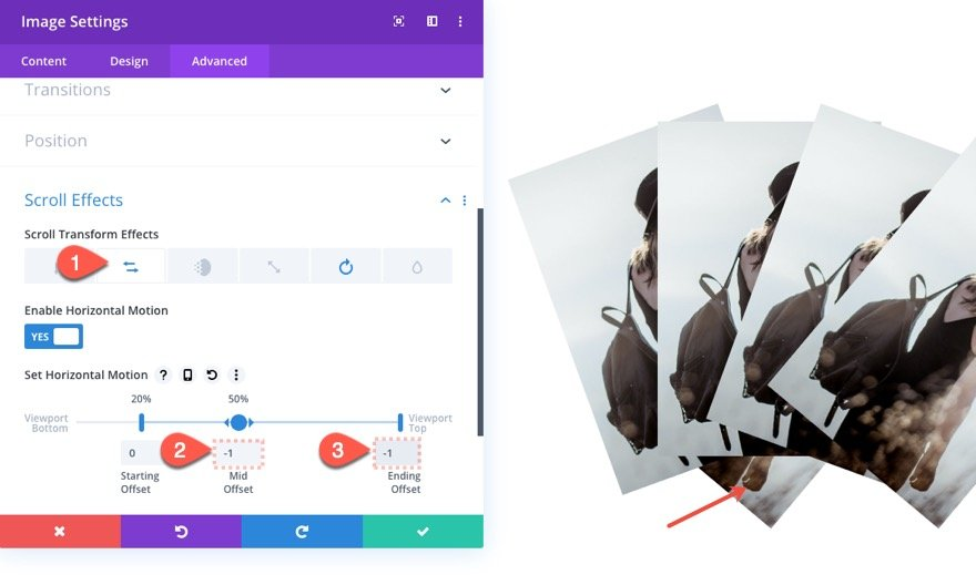 fan-out images on scroll