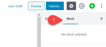 block options tab