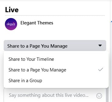 fb live pages or timeline or groups