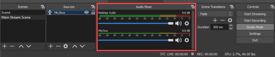 obs audio mixer