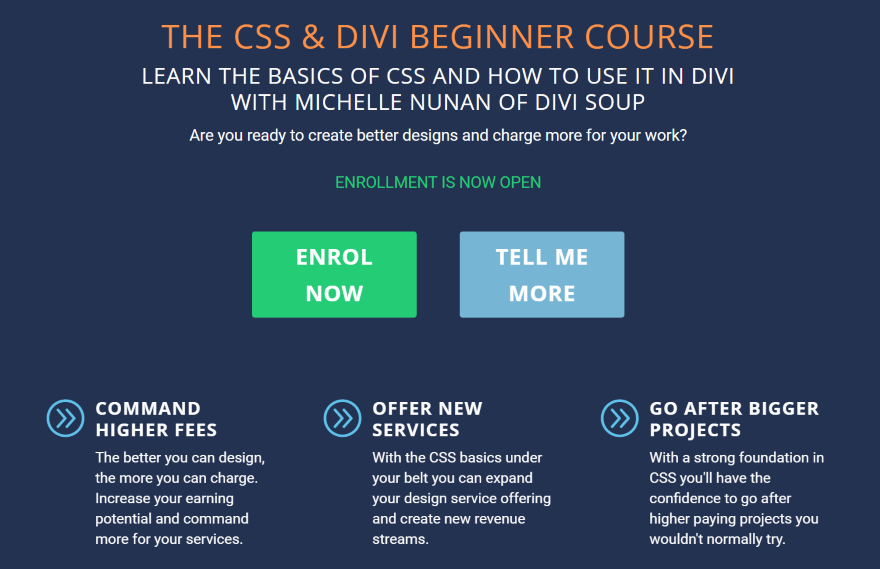 The CSS & Divi Beginner Course