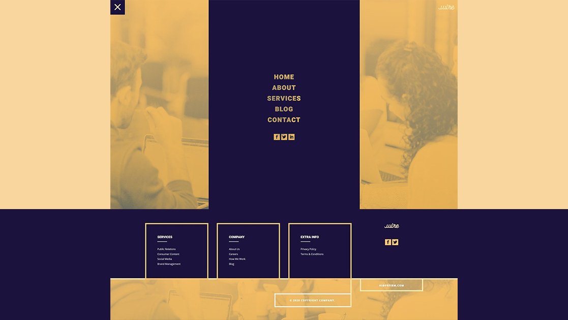 Download a FREE Header & Footer Template for Divi's PR Firm Layout Pack