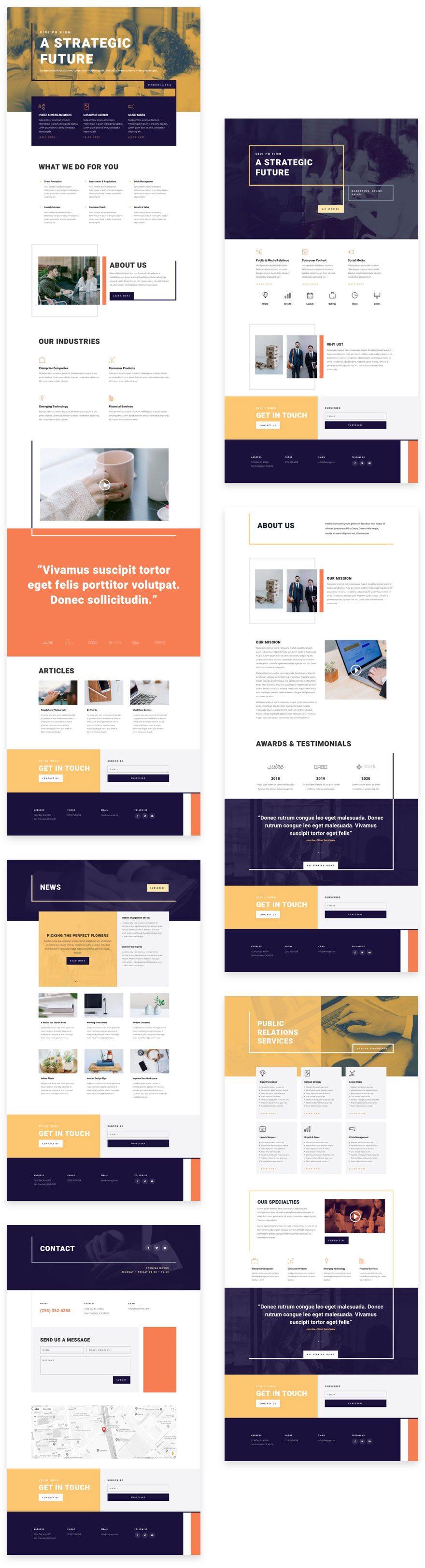 PR firm website