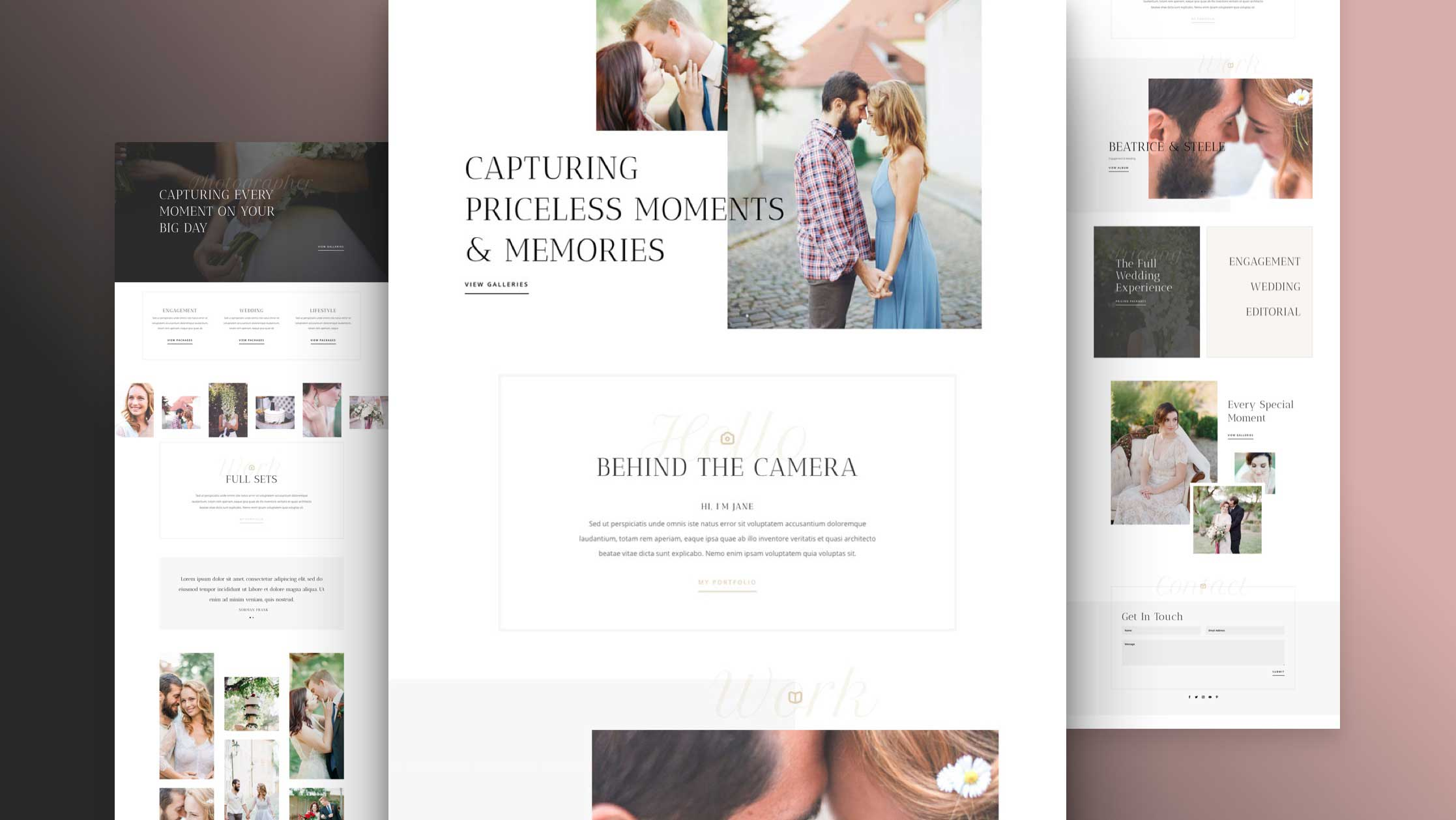 Get a FREE Wedding Photographer Layout Pack for Divi