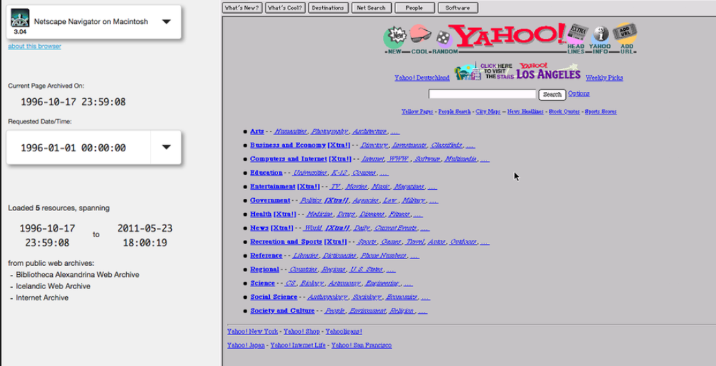 A website displayed on oldweb.today.