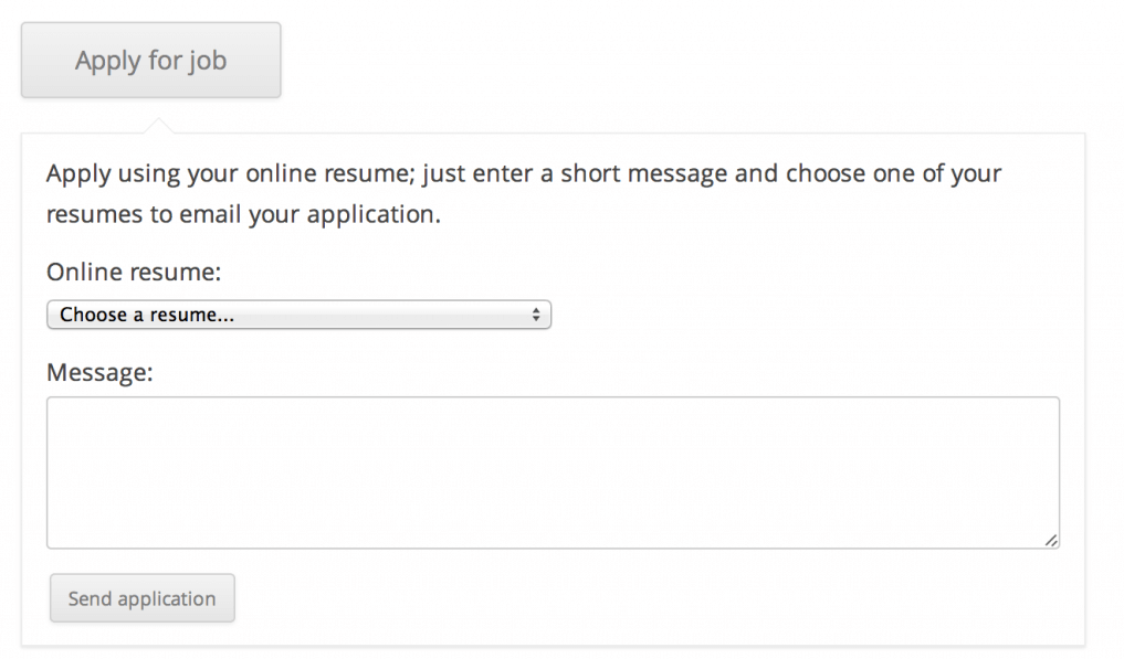 The WP Job Manager resume manager feature.