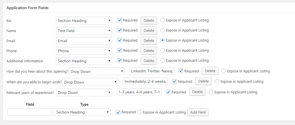 Creating a custom job application form with Simple Job Board.
