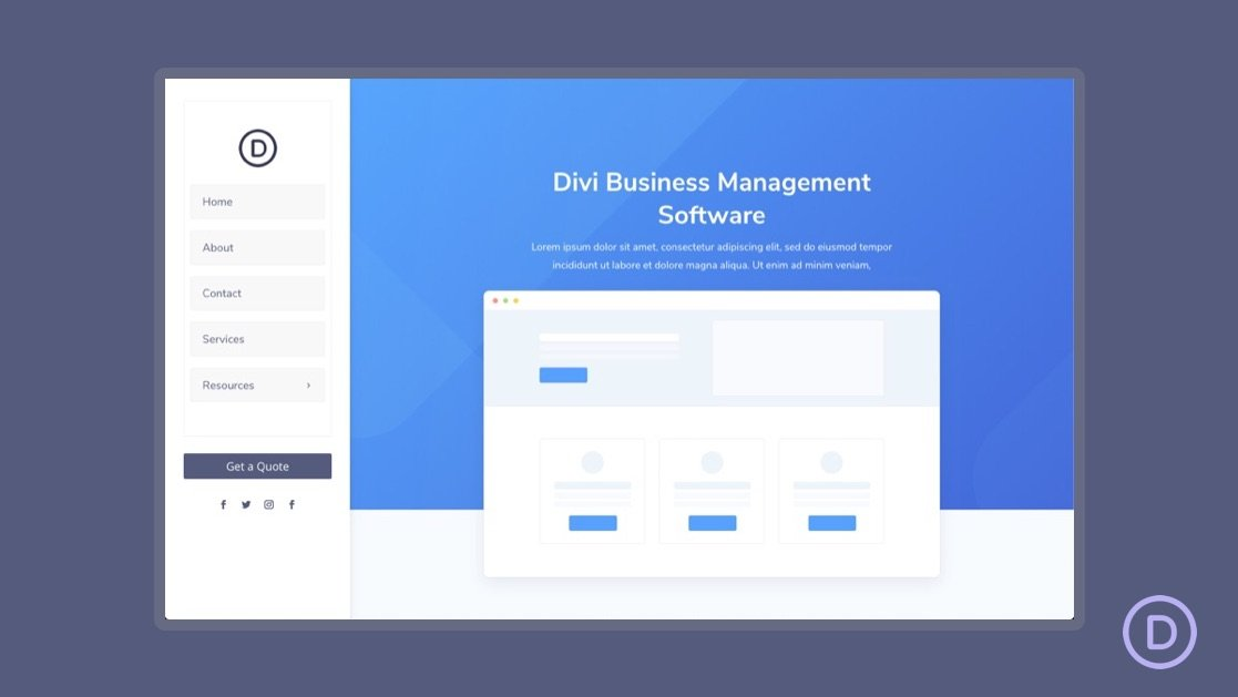 How to Create a Vertical Navigation Menu (or Header) for Your Divi Website