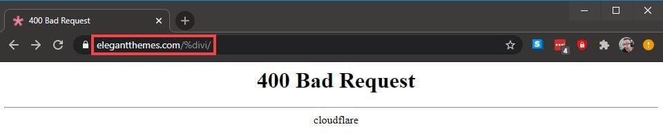 400 error with %