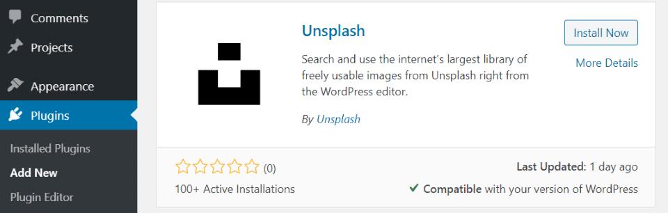 Installing the Unsplash WordPress Plugin