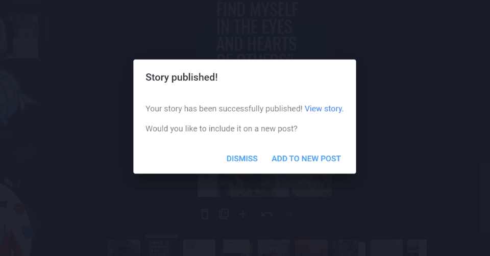 Publishing a Story