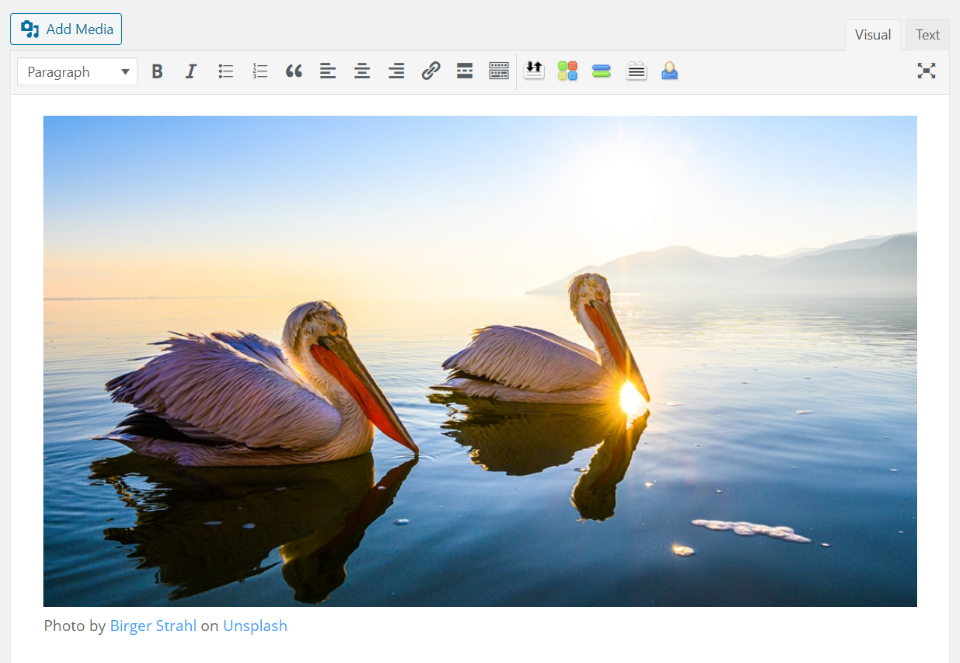 Unsplash with the Classic Editor