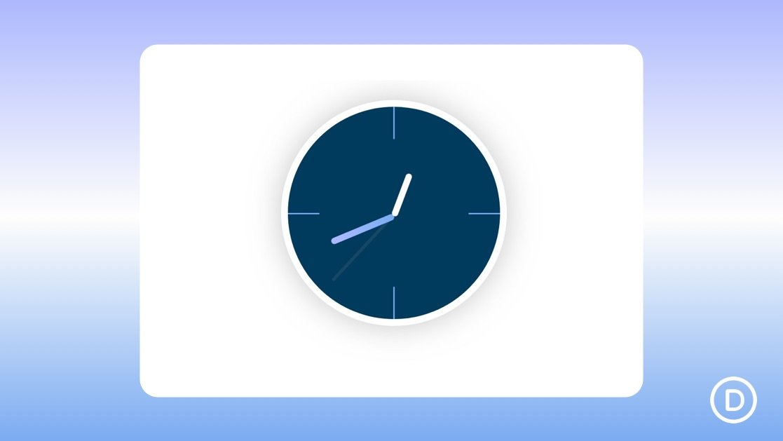 How to Design an Animated Clock with Divi's Scroll Effects