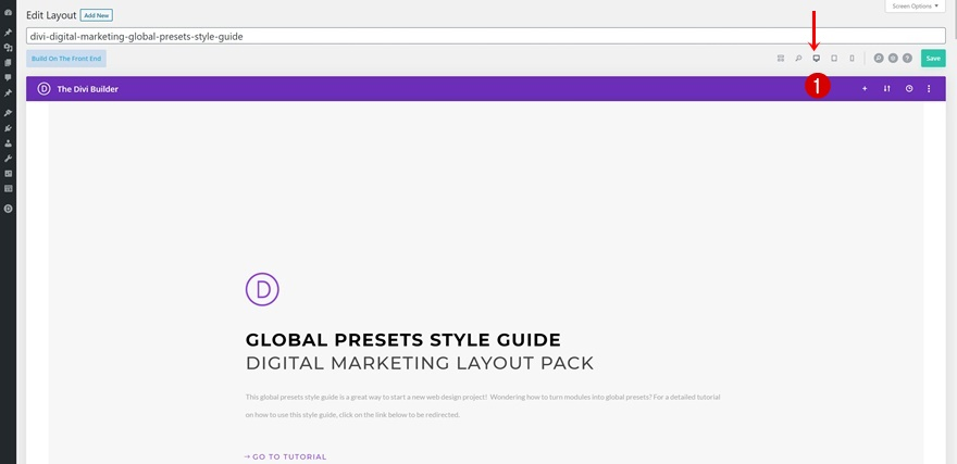 App Developer global presets style guide