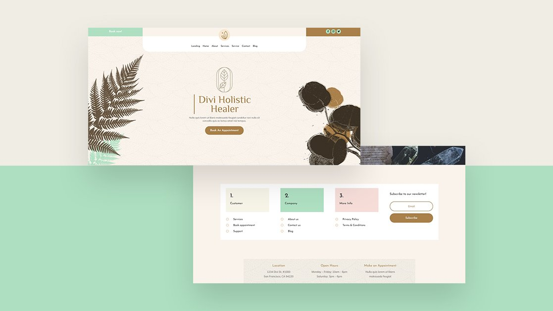 Download a FREE Header & Footer Template for Divi's Holistic Healer Layout Pack