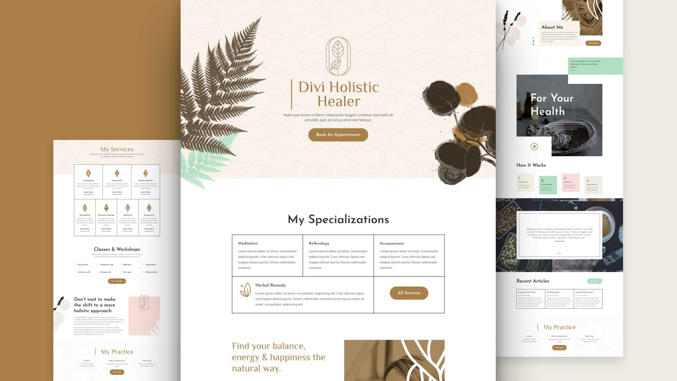 Get a FREE Holistic Healer Layout Pack for Divi