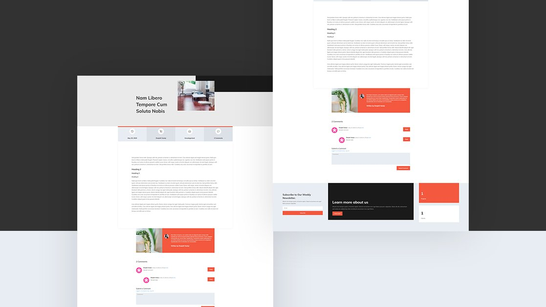 Download a FREE Blog Post Template for Divi's Interior Design Layout Pack