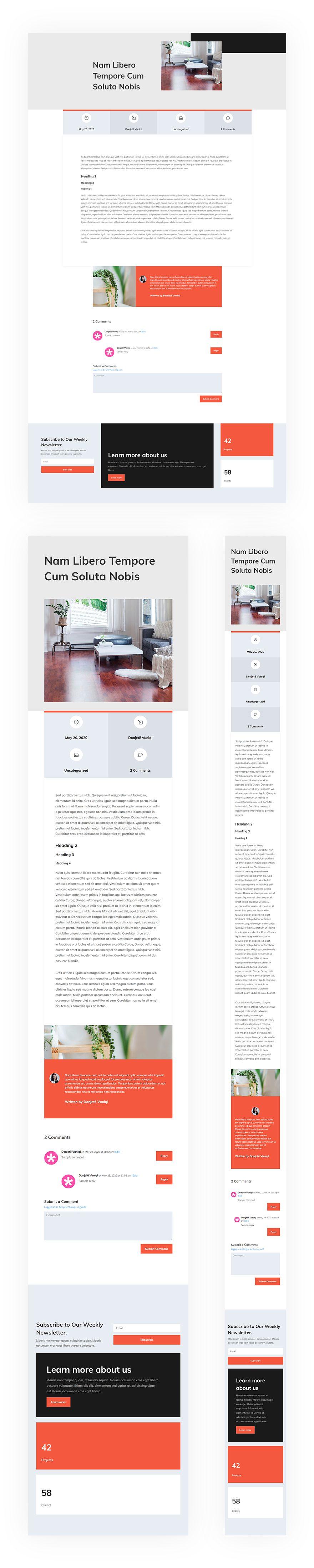 interior design blog post template