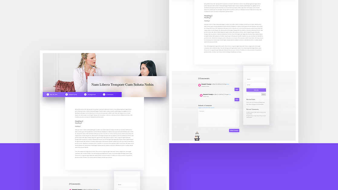 Download a FREE Blog Post Template for Divi's Psychologist Layout Pack