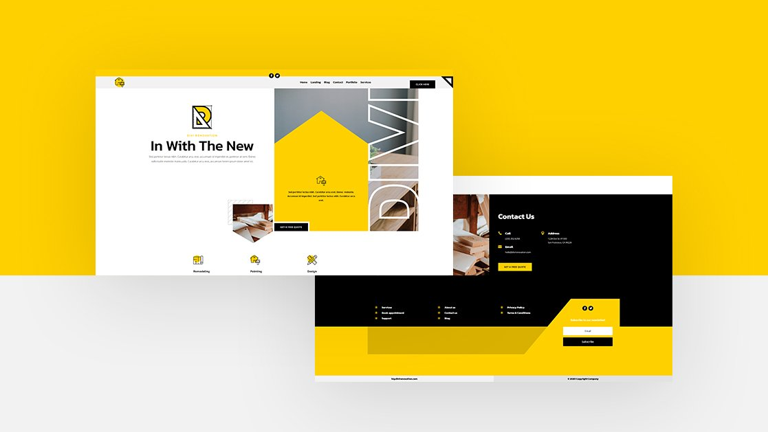 Download a FREE Header & Footer Template for Divi's Renovation Layout Pack